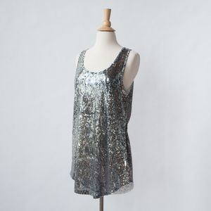 Silence + Noise {Urban Outfitters} Sequin Tank Top